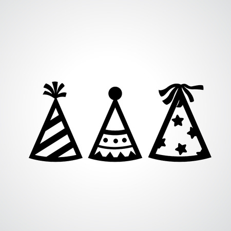 white  hat: Illustration of party hat icons vector