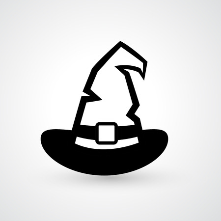 wizard hat: Illustration of witch hat icon vector