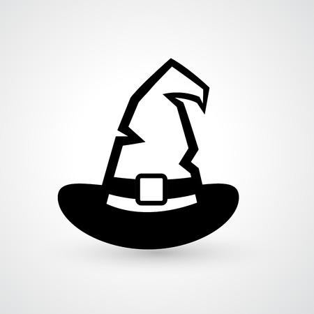 witch: Ilustraci�n de bruja icono sombrero vector Vectores