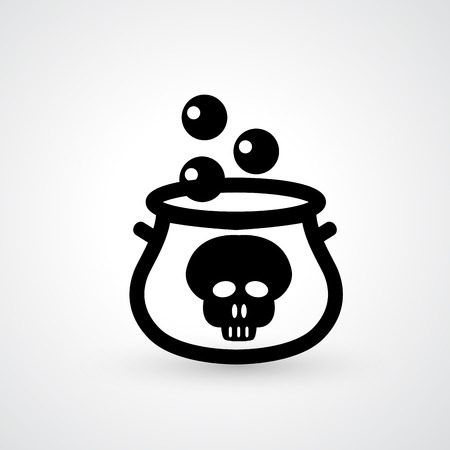 magic potion: Illustration of witches cauldron icon vector