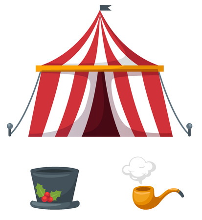 cirque: Illustration of isolated colorful circus set vector Illustration