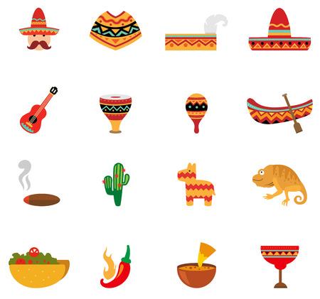 enchiladas: illustration of mexico icons vector