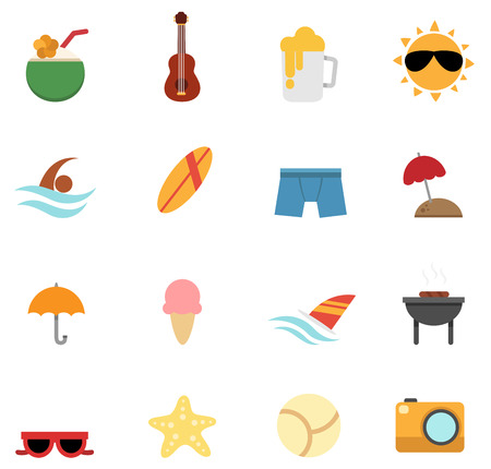 illustration of summer icon vector Vector