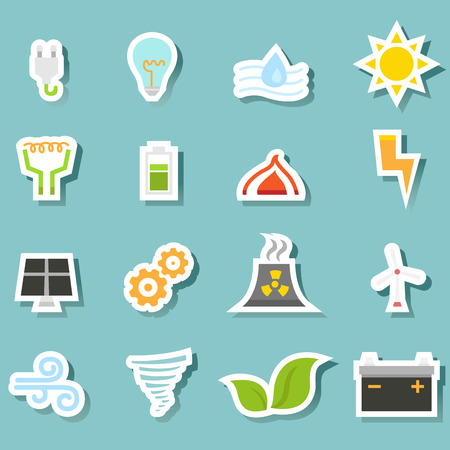 illustration of ecology icon set vector Vector
