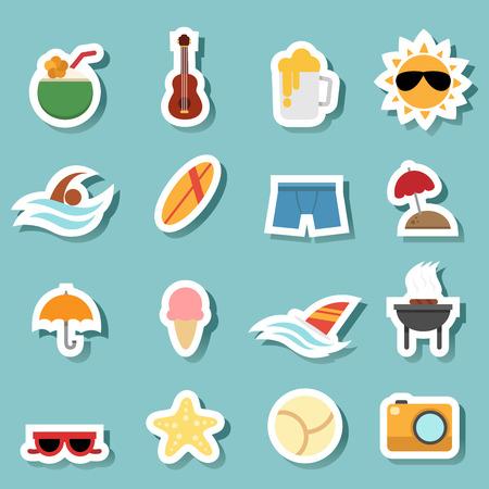 sunglasses recreation: illustration of summer icon vector