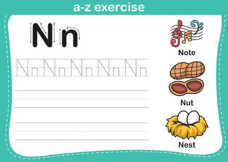 huevo caricatura: Ejercicio del alfabeto az con ilustraci�n vocabulario historieta, vector