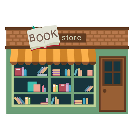 convenient store: book store vector illustration on white background