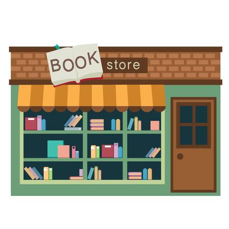 ilustracji książki sklep wektorowych na białym tle