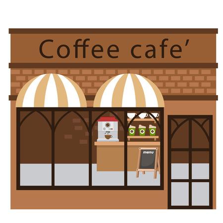 coffee restaurant vector illustration on white background Illustration