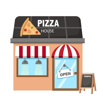 bake sale sign: Illustration of isolated pizza restaurant vector