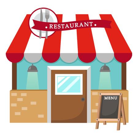 Illustratie van geïsoleerde restaurant vector Stockfoto - 37725948