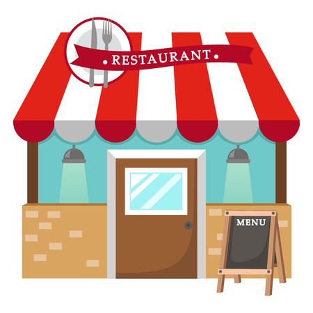 convenient store: Illustration of isolated restaurant vector
