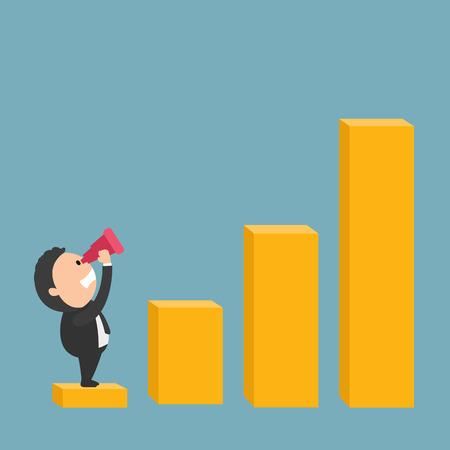 Il concetto del continuo successo growing.illustration, vettore Archivio Fotografico - 39419758