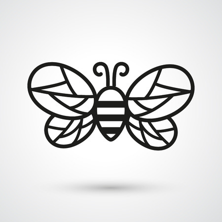 Illustration of bee icon vector Illustration