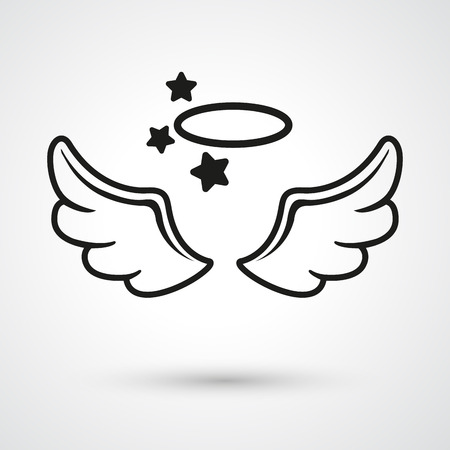 wings icon: Illustration of wings icon vector