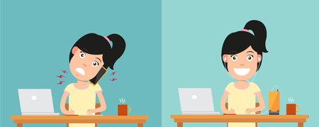 via: Best and worst positions for talking via smart phone  illustrationvector