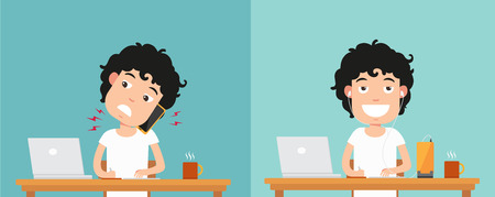 Best and worst positions for talking via smart phone  illustrationvector