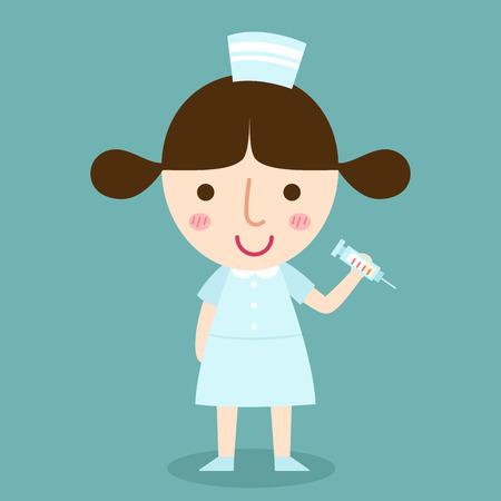 illustration of isolated nurse vector