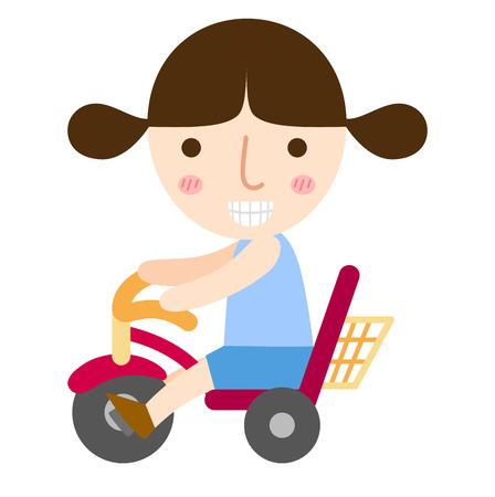 bicicleta vector: ilustración de aislado de un joven montado en un vector de bicicletas