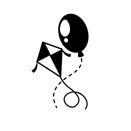 paper kite: illustration of kite icon