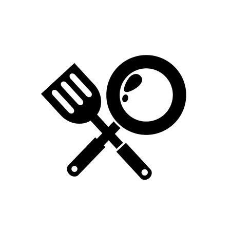 steam cooker: illustration of frying Pan icon