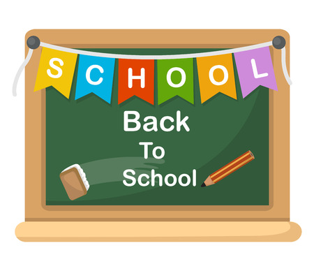 supplies: back to school, illustration.vector Illustration