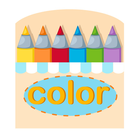 crayons: crayons box ,illustration,vector