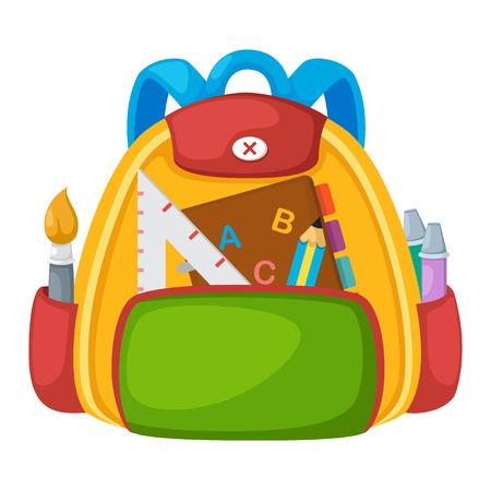 satchel: Illustration of isolated school bag vector