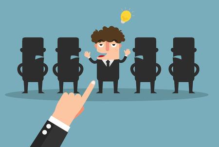 job promotion: Select of good idea,vector illustration
