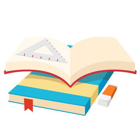 libro abierto: Ilustración del libro abierto aislado vector