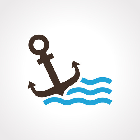 metal parts: Illustration of isolated anchor icon vector Illustration