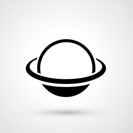 saturn: Illustration of saturn icon vector Illustration