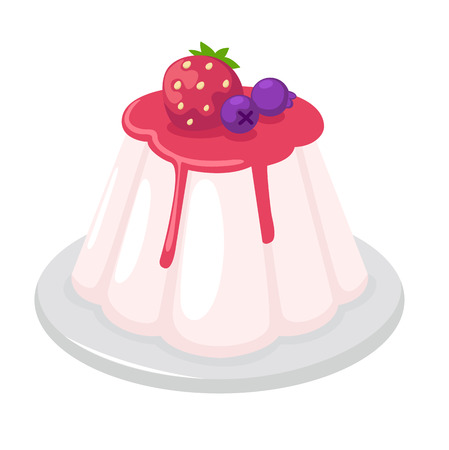 christmas cake: illustration of isolated jelly pudding on white background vector