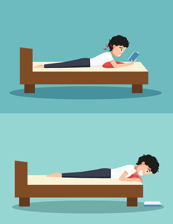 worst: Best and worst positions for read a book Illustration