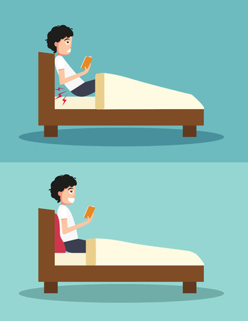Best and worst positions for read a book 일러스트