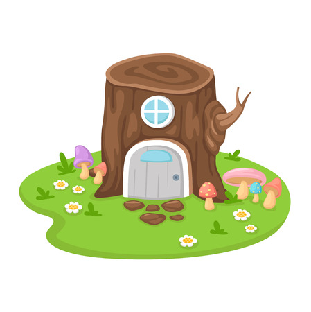 tree house: illustration of isolated tree house on a white background Illustration