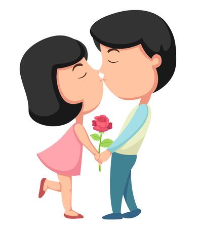 Kiss illustration, vector