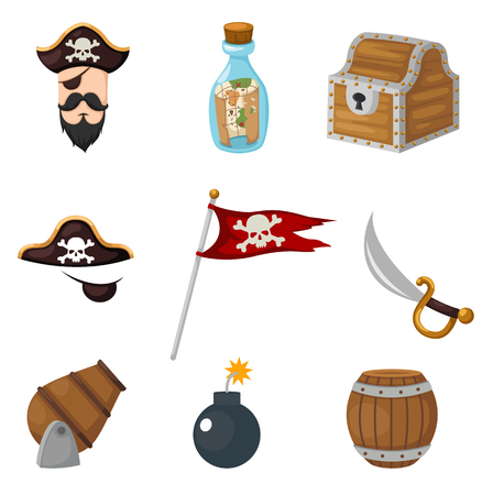 mystery: pirates set vector