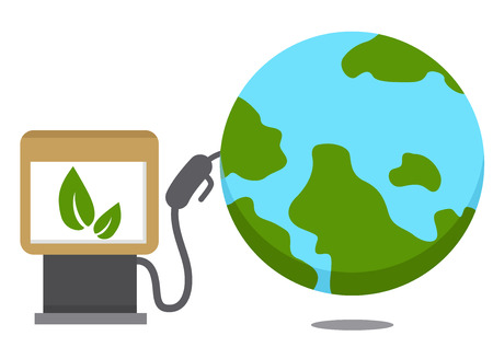 strenght: oil for earth.vector illustration