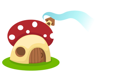 Mushroom house.vector illustration