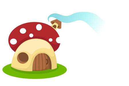 Mushroom house.vector illustration