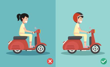 De bonnes et de mauvaise circonscription pour empêcher voiture crashes.vector illustration Banque d'images - 47552724