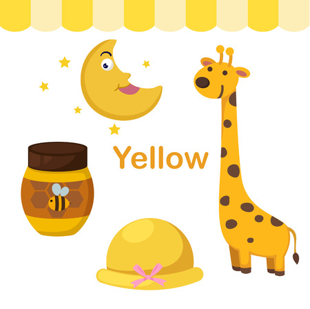 early: Illustration of isolated color yellow group vector Illustration