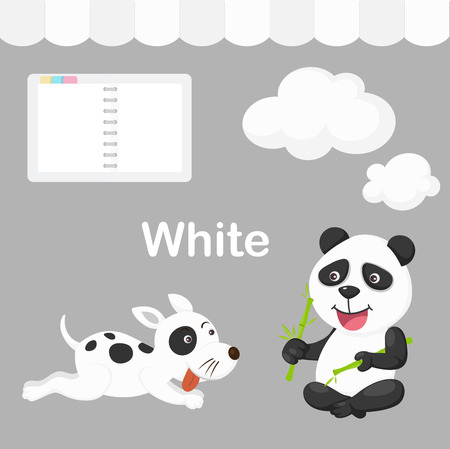 strip a dog: Illustration of isolated color white group Illustration
