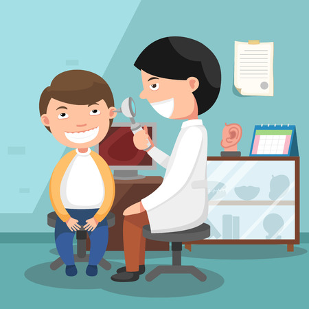 Doctor performing physical examination illustration Imagens - 52129600