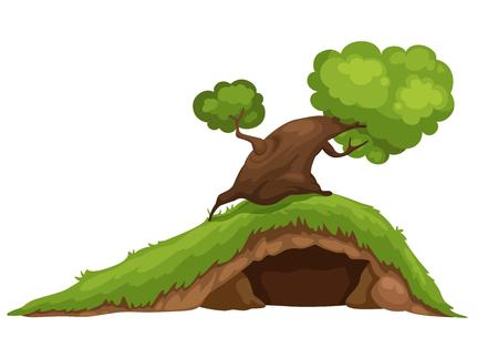 garden lawn: illustration of tree Illustration