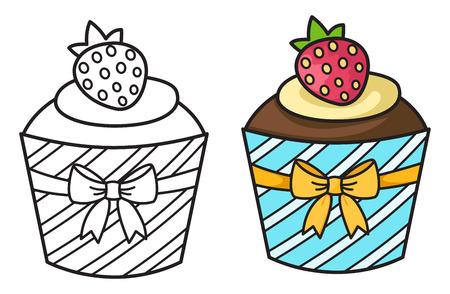 cupcake illustration: illustration of isolated cupcake Illustration