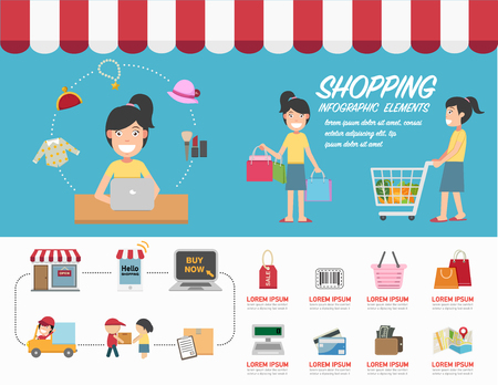 phon: Shopping infographics.