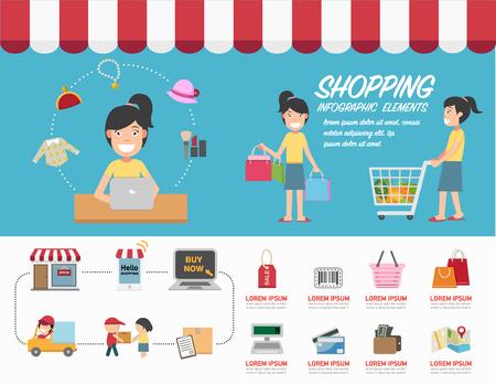 phon: Shopping infographics.
