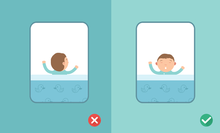 position: Best and worst sleeping positions,illustration Illustration